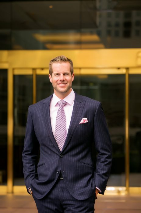 Attorney Matt Easton of Orange County CA feeling confident in his John Bradley Custom Clothier designer suit.