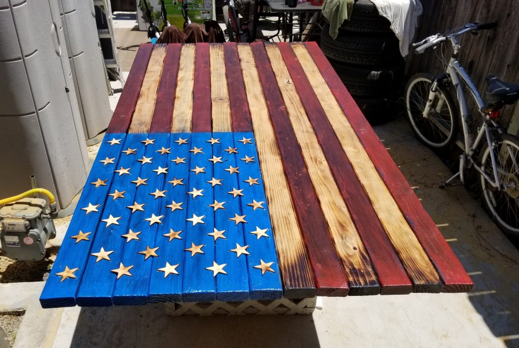 Authentic Wood American Flag